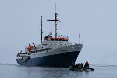 Le MV Ushuaia, il nous emmènera jusqu'en Antarctique