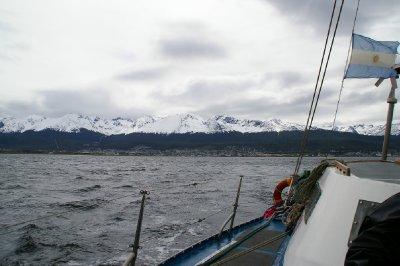 Ushuaia depuis le voilier