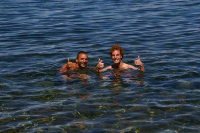 Jeff et Antoine - Lac Titicaca
