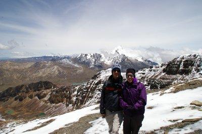 Antoine et Virginia en route pour le sommet