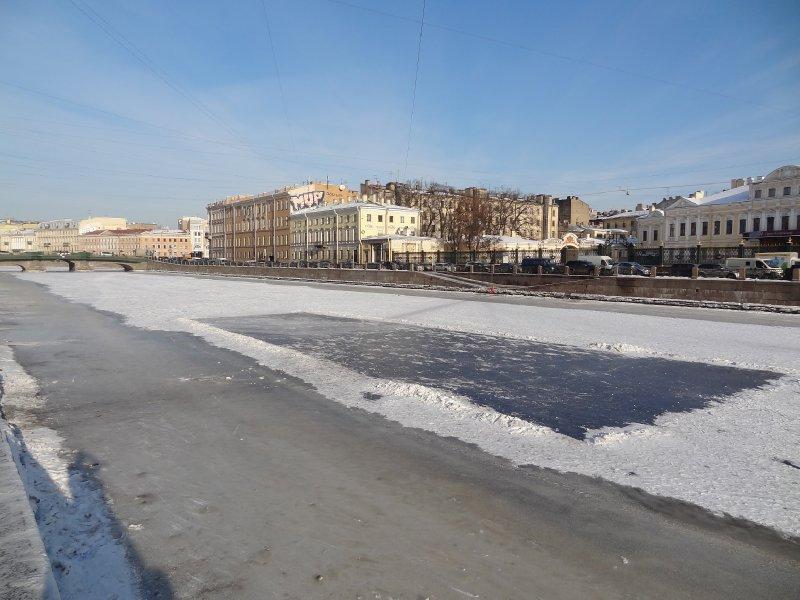 Terrain de Hockey sur glace improvisé