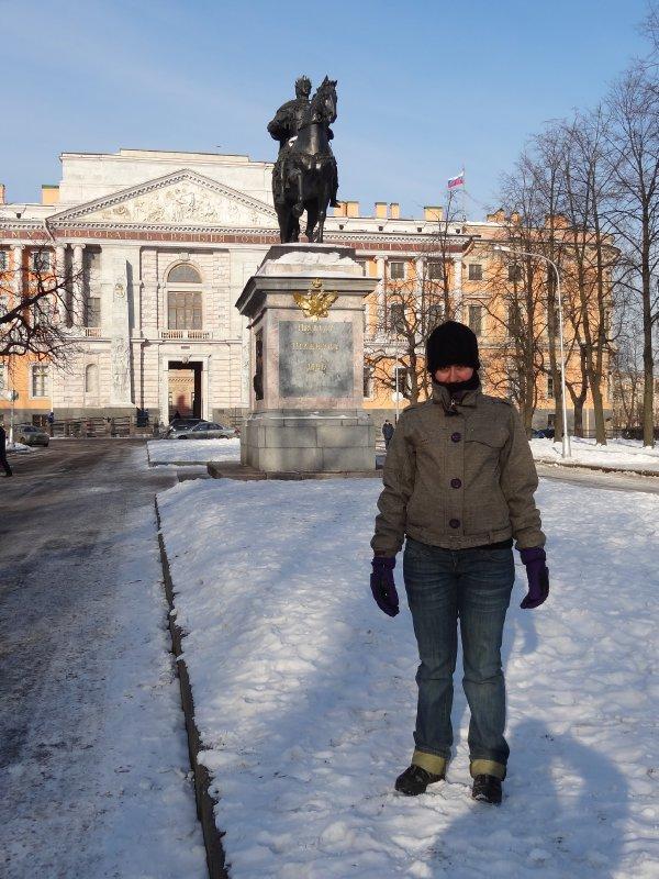 Fiona - une statue - le chateau de Mikhaïlovsky