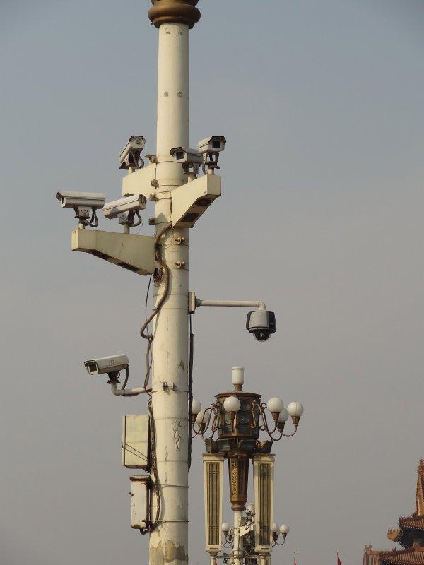 Les cameras de surveillance poussent super bien sur la place Tiananmen!!!