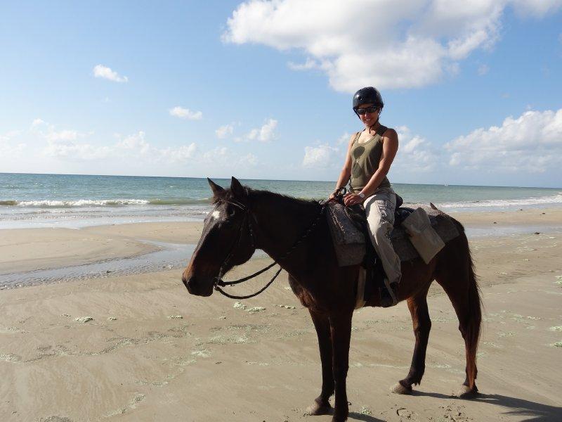 Fiona sur la plage