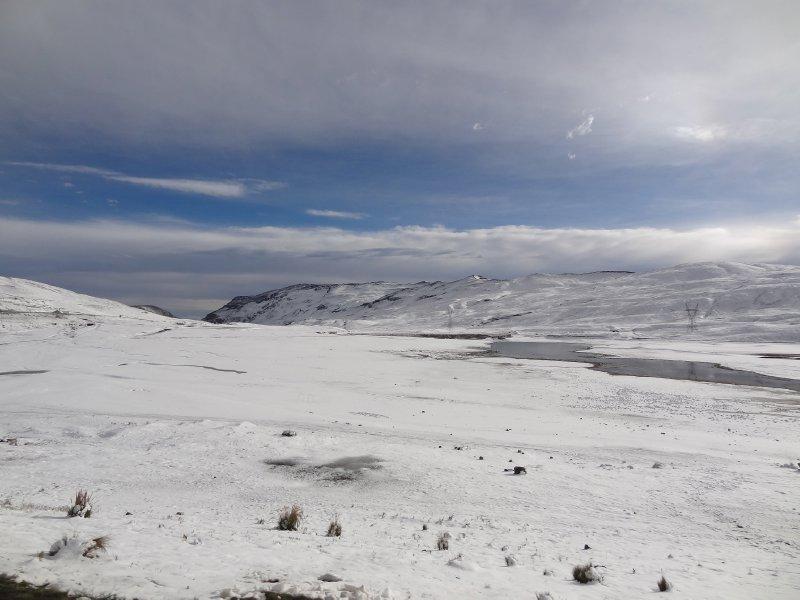 La neige au point de départ de la descente!