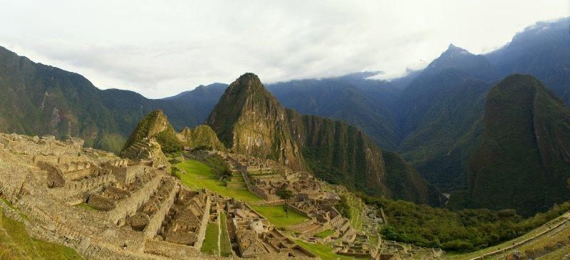 panoramique du Machu Picchu