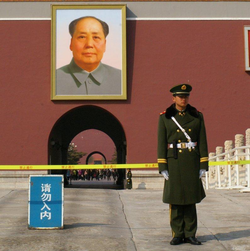 Entrée de la Cité interdite - Portait de Mao