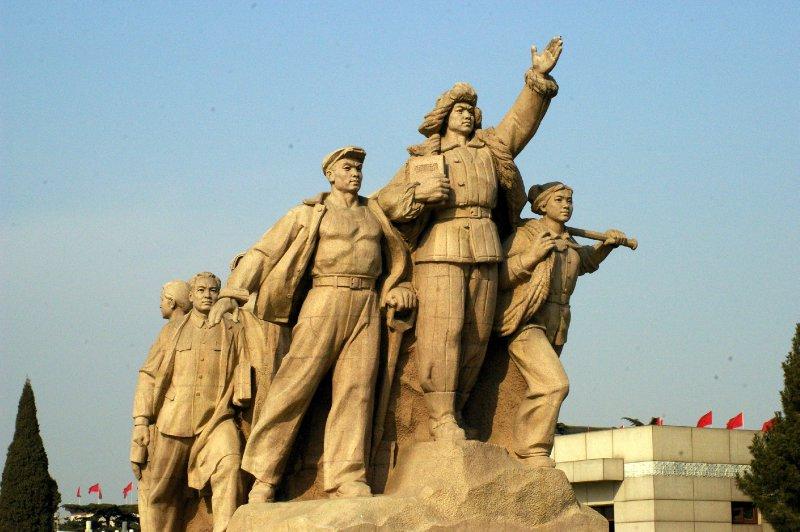 Statue de Mao sur la place Tiananmen