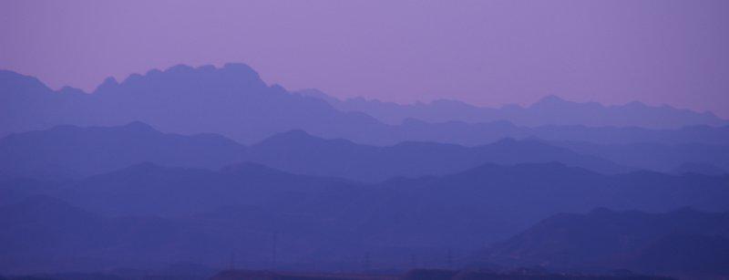 Montagnes proches de la Gd muraille