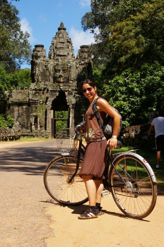 A bicyclette dans les temples d'Angkor