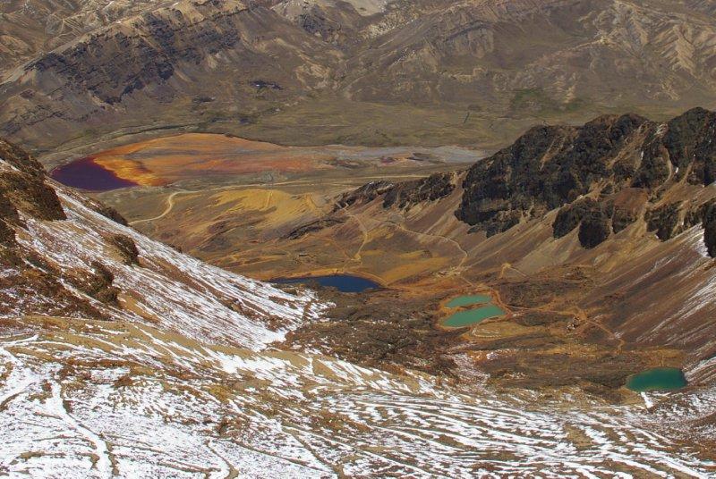 Lacs de couleurs - Chacaltaya
