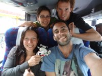 Virginia, Leandro, Fiona et Antoine. En route pour Santiago