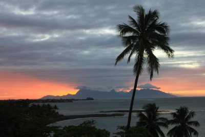View of Moorea from Radisson Tahiti