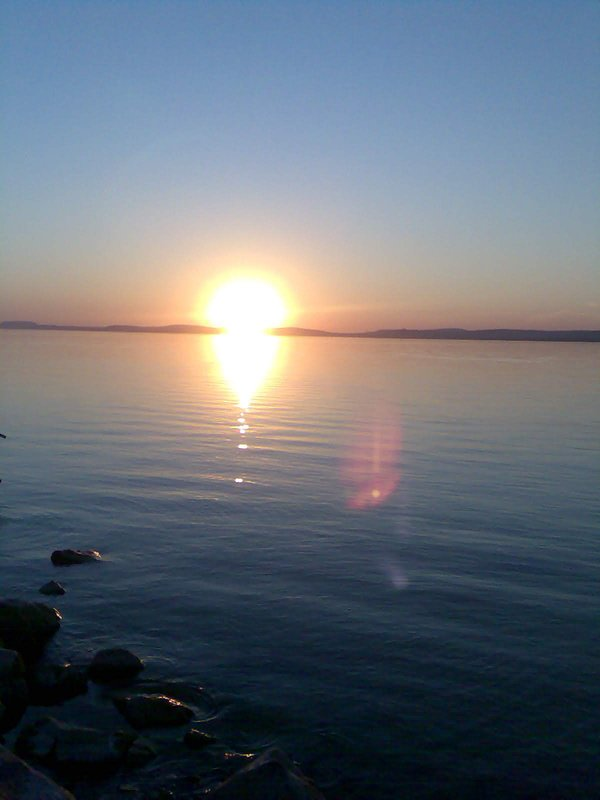 Sunset by Lake Balaton