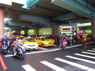 Another chaotic view of traffic in Taiwan