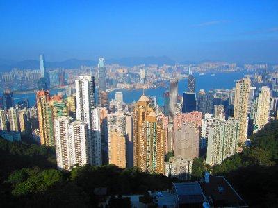 View of HK skyline