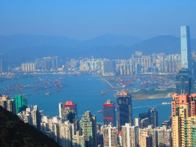 View west of Victoria Harbour