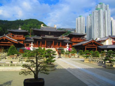 Temple in the midst of an urban jungle