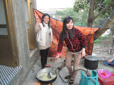 Cooking outside