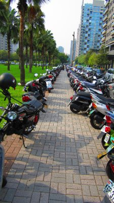 Parking for your scooters!  Good luck finding yours!