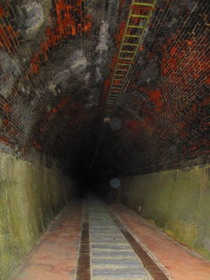 A couple of steps into the tunnel of death