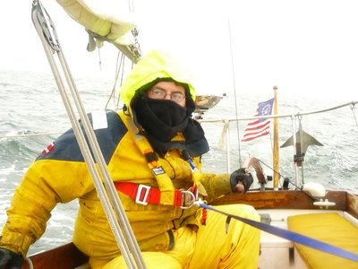 Me sailing the William Bligh to New Hampshire in 2009
