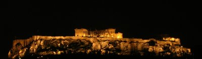 Parthenon at night, Olive Garden restaurnant, Titanta Hotel