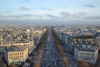 Champs Elysee is a busy street-a