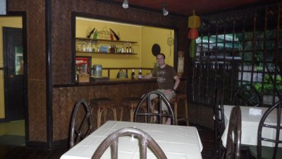 Casa Linda's in Puerto Princesa- working on the beer belly