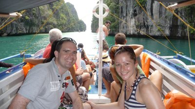 exit from Big Lagoon- us blocking the view!