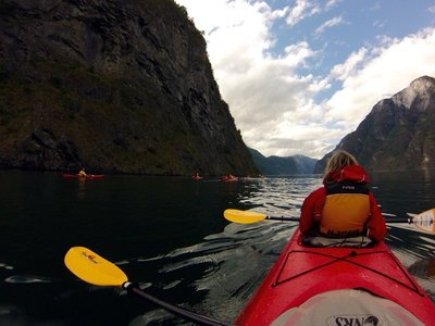 Nærøyfjord - World Heritage listed (mountains tower above 1800m)