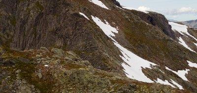 Romsdalseggen Ridge - Go Louisa (She is the blue dot)