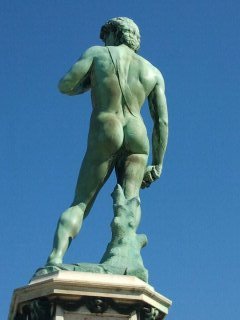 Bronze David (the famous Butt)