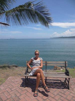On the long Causeway walk - Panama Canal Harbour