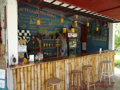 Well stocked bar at El Roble...best G&T's since London...and Ross got a Guiness at long last