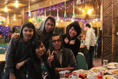 New Year Meal in Bromo Permai Hotel Bar & Restaurant