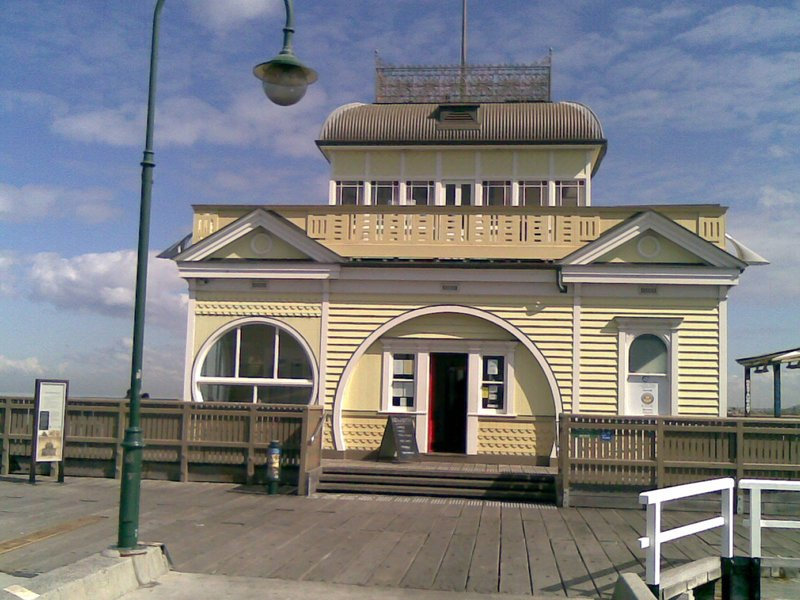 Reconstruction of historical St Kilda Pier building