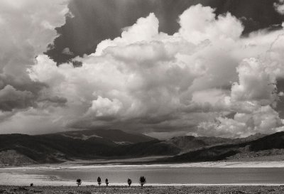 Big weather approaches a remote lake in Kyrgyzstan, 14 August 2012