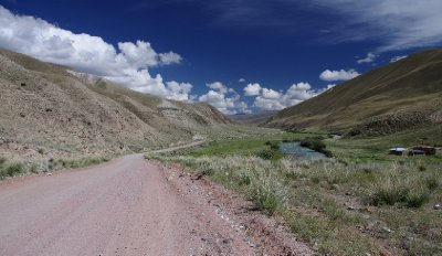 The open road, takes us high into the Tien Shan Mountains, 15 August 2012