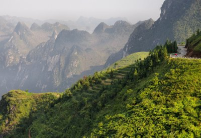 Dramatic views on the Chinese Vietnam border, 1 October 2012