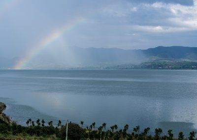 Rainbow over Chenghai Lake