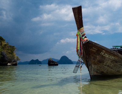 Destination Thailand: A longtail boat in the Malacca Strait