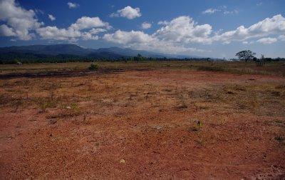Flatter lands approaching Vientiane