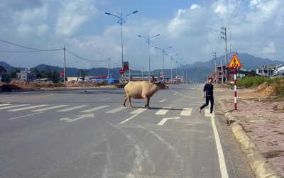 The new road over-caters for its users in North West Vietnam