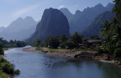 The Mekong winds through the mountains