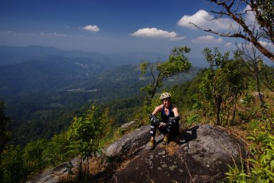 The hard work is over as I relax on the Doi Suthep ridge Resized
