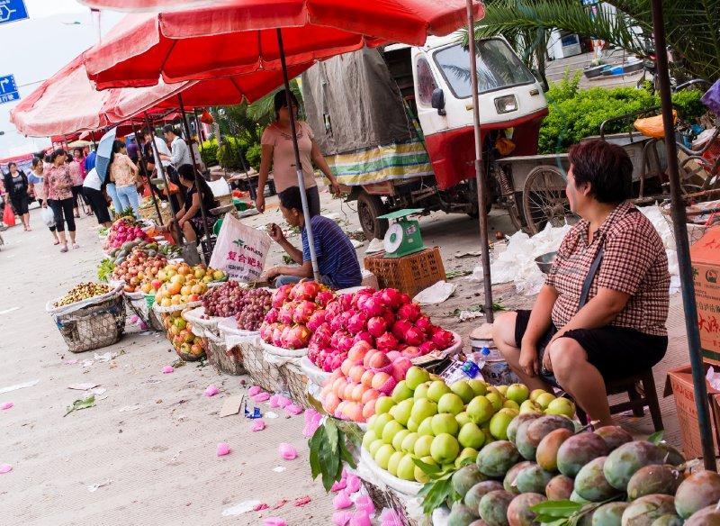 Binchuan fruit market