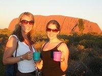 Emma and me at Uluru