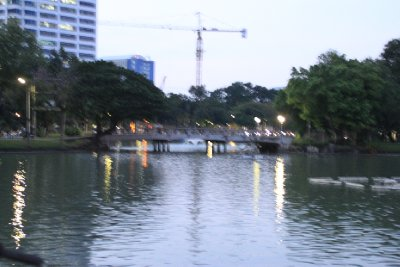 Lumphini park boating lake 3
