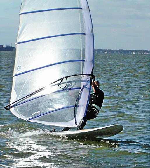 Windsurfing on the Norfolk coast